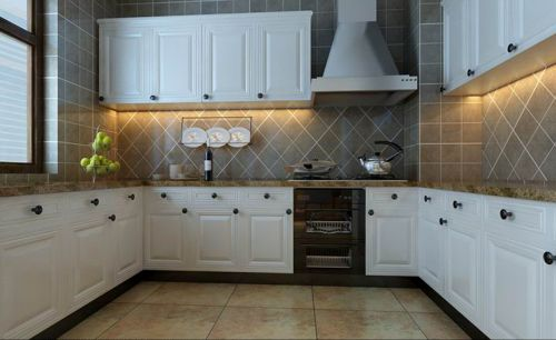 田园风格四居室厨房橱柜装修图片