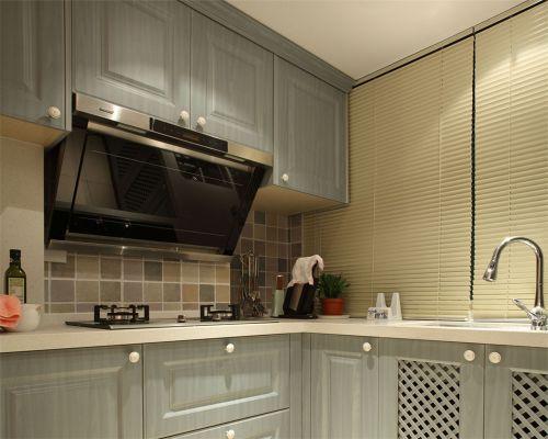 田园风格一居室厨房灯具装修效果图