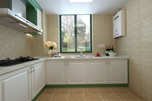 田园风格三居室厨房装修图片