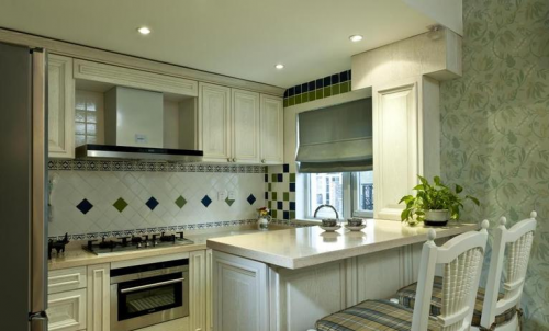 田园风格一居室厨房装修图片欣赏