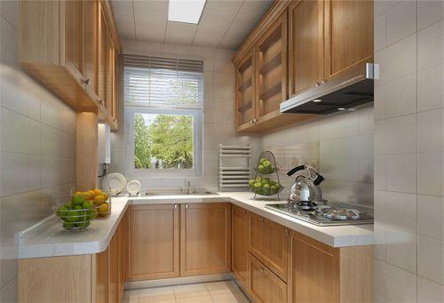 田园风格二居室厨房灯具装修效果图