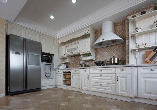 田园风格四居室厨房灯具装修效果图欣赏