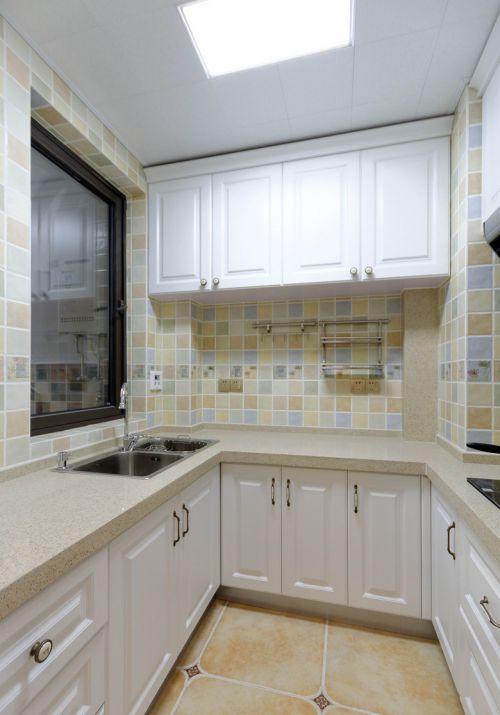 田园风格厨房简洁式储物柜装修效果图