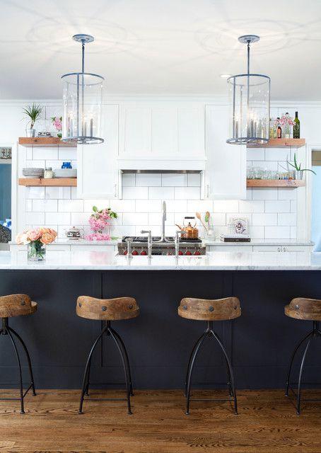 质朴田园风格厨房吧台装修效果图
