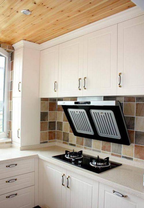 田园风格四居室厨房整体橱柜装修效果图