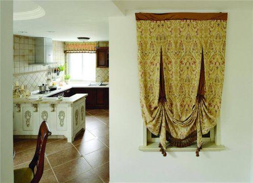 浪漫田园风格厨房窗帘设计效果图