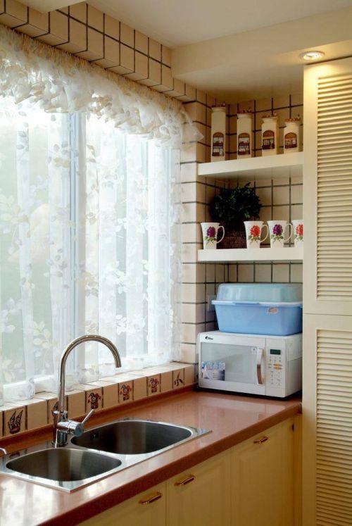 整洁美式乡村田园厨房飘窗图片欣赏