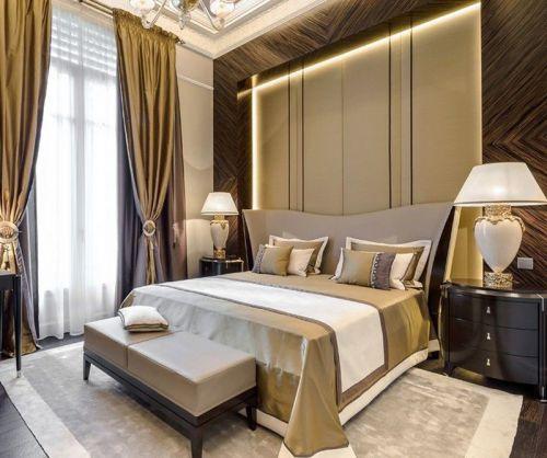 温馨三居室时尚现代简约卧室效果图