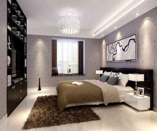 现代简约三居室卧室吊顶装修图片