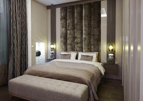 现代摩登住宅黑色窗帘设计卧室装修
