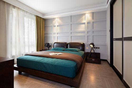 时尚现代风格卧室背景墙装修案例