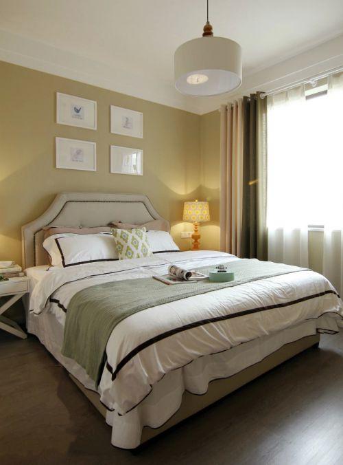 清新现代风格三居室卧室装修案例