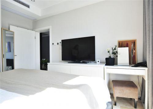 时尚现代风格二居室卧室装修案例