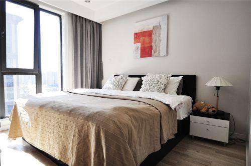 清新现代风格二居室卧室装修案例