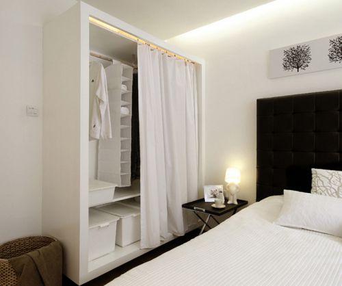 黑白极简现代风格卧室设计效果图
