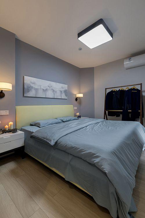 素雅现代风格灰色卧室装修设计