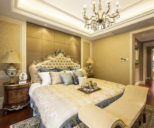 现代欧式风格典雅卧室效果图