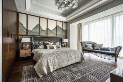 雅致现代风格轻奢卧室装修实景图