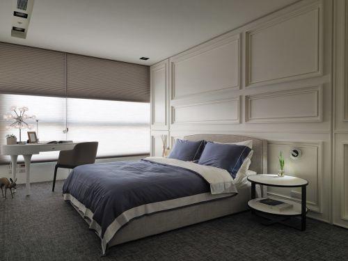 时尚现代风格三居室卧室窗帘装修效果图