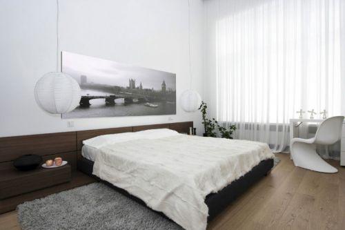 时尚现代风格大三居雅致卧室装修图片