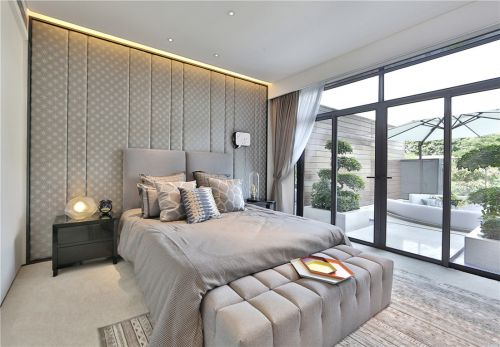 华丽现代风格别墅卧室背景墙效果图大全
