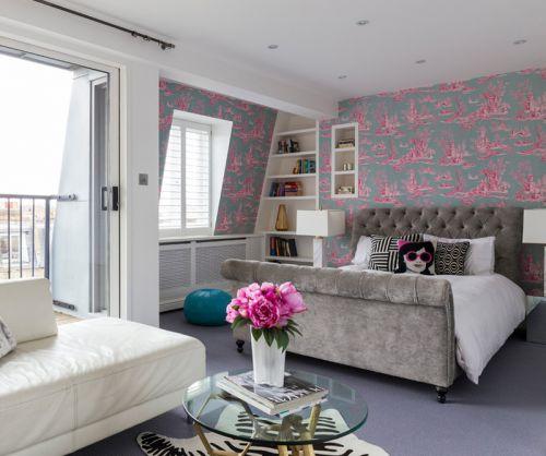 时尚简约风格现代女性卧室装修效果图