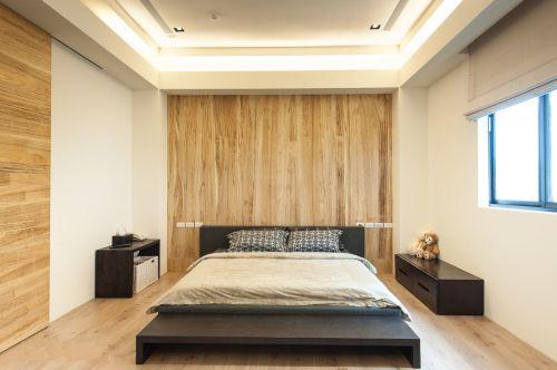 时尚现代风格三居室卧室背景墙效果图