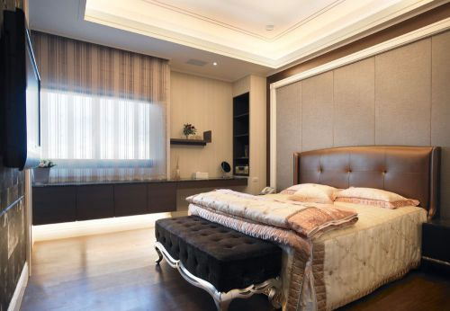 时尚现代风格四居室卧室装修案例