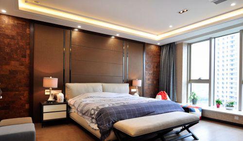 雅致现代风格卧室背景墙装修效果图
