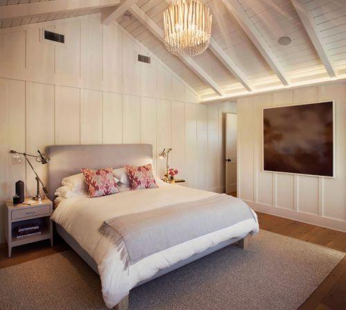 淡雅时尚现代风格卧室吊顶装修效果图