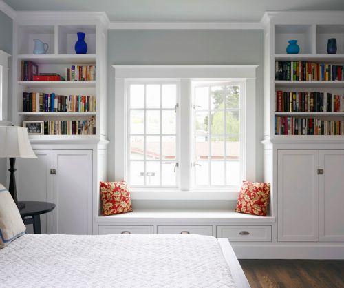 现代简约白色卧室飘窗装修效果图