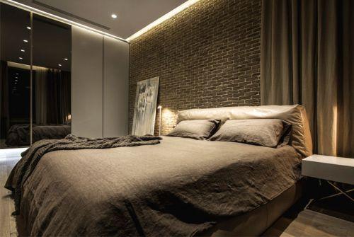 低调奢华现代风格卧室背景墙装修图片