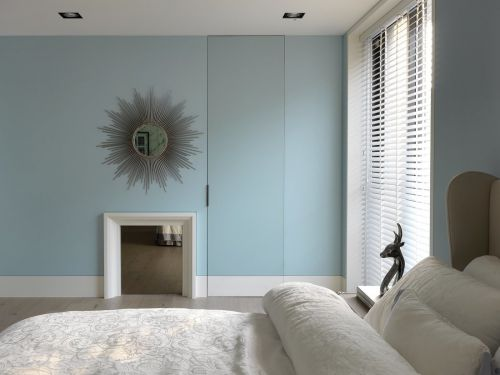 家装现代风格卧室隐形门效果图欣赏
