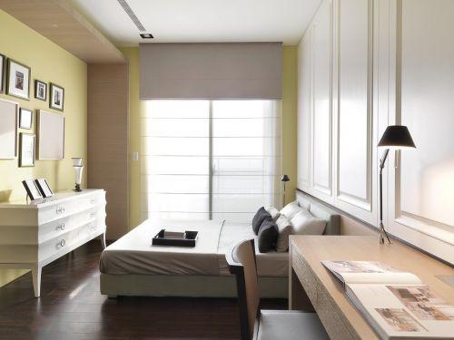 时尚现代风格二居室卧室窗帘装修效果图