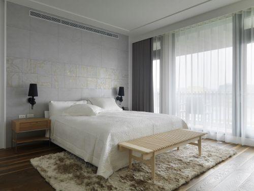 时尚现代风格卧室背景墙装修效果图