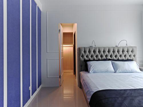 时尚现代风格卧室隐形门装修效果图