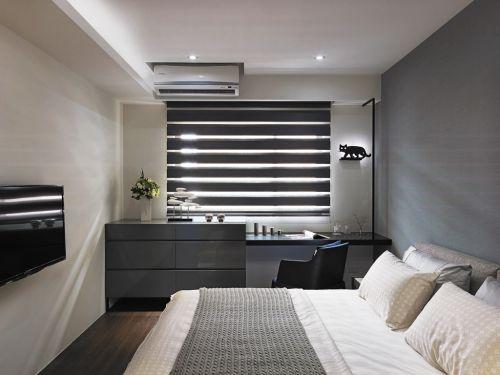 时尚现代简约风格三居室卧室效果图欣赏