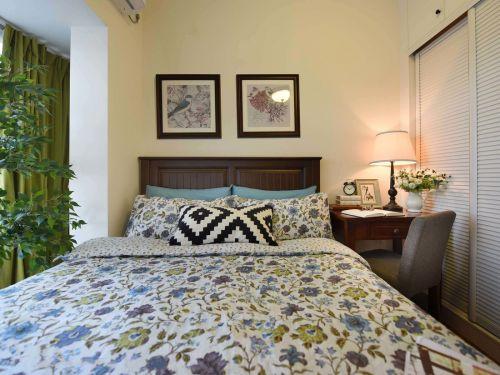 清新现代风格三居室卧室装修实景图