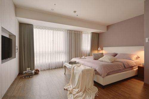 清新现代风格三居室卧室装修效果图