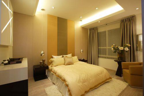 家装现代风格三居室卧室装修效果图