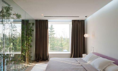 典雅现代风格卧室窗帘装修效果图