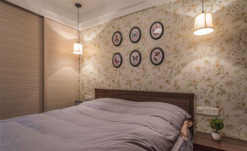 清新现代风格卧室背景墙效果图大全