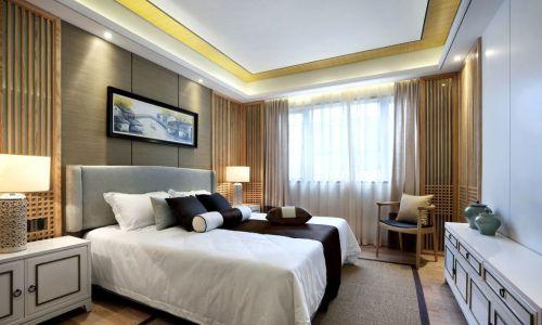 华丽现代风格三居室卧室装修案例