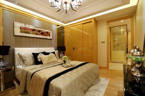 明亮现代简约风格米色卧室装修效果图