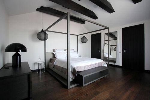 现代风情黑色格调卧室装修效果图