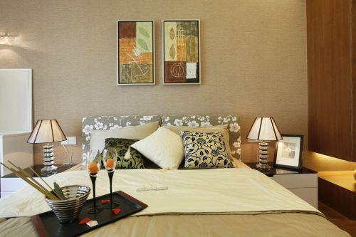130平米现代简约风格卧室三居室装修样板间