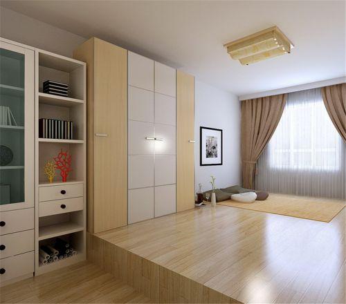 现代简约风格卧室原木色榻榻米装修图片
