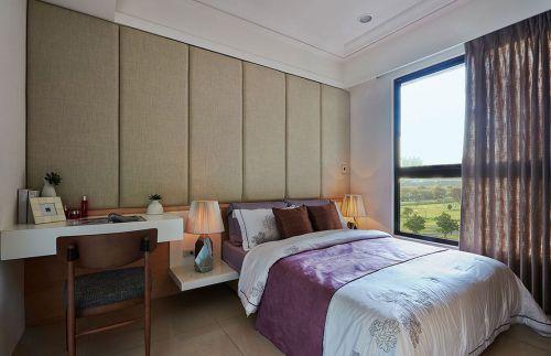 家装现代风格卧室床头背景墙装修案例