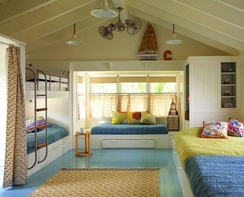 40平米现代简约卧室客厅飘窗设计