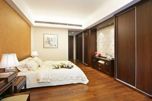 现代简约风格卧室咖啡色装修效果图